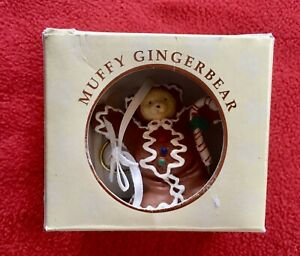 Gingerbread Bear MUFFY VanderBear Christmas ORNAMENT Retired Holiday Collectible