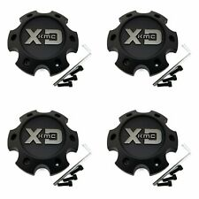 4 KMC XD Series Black Wheel Center Caps 6L XD832 Fusion XD828 Delta XD826 Surge