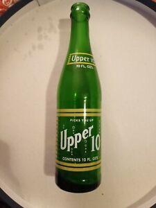 Vintage Nehi Upper 10 Lime-Lemon 10 oz Soda ACL Bottle Green Glass 1950's