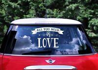 XXL CAR STICKER Auto Aufkleber LOVE Hochzeit Autoschmuck Autoaufkleber