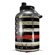 Skin Wrap for RTIC 1 Gallon Jug Painted Cracked Red Line USA American Flag