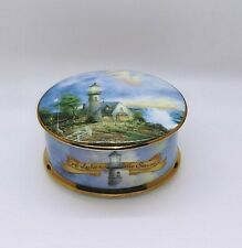 """Thomas Kinkade Music Box Third issue in """"A Light In The Storm"""" No. 4815B 1995"""