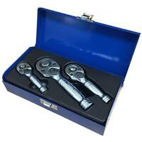 "Professional Stubby Ratchet handle set - 1/4"" 3/8"" 1/2"" short ratchet wrench set"