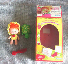 Vintage Strawberry Shortcake Apple Dumplin Doll With Tea Time Turtle Kenner 1980