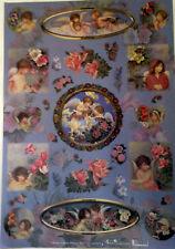 CARTA DA DECOUPAGE - ANGELI IN FIORE - 35x50cm