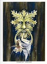 """Selina Fenech Print Greenman's Door Knob Doorknob Fairy Faery Swing 8.5x11"""" Art"""