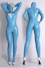 New PVC light blue Lycra Zentai spandex Unisex catsui S-XXL