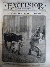 WW1 SERBIE RAFLE ALIMENTAIRE VAGUEMESTRE SUR LIGNE DE FRONT EXCELSIOR 8/12/1915