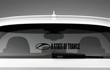 A State of Trance Armin Van Buuren Car Window Sticker Styling Decal, Black