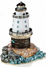 lighthouse enameled bejeweled trinket box 3396