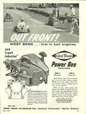 Vintage Beautiful 1960's West Bend Power Bee Go-Kart Ad