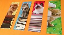 NEW! 24 CATS WITH BOOKS BOOKMARKS PARTY FAVORS SCHOOL REWARD KITTENS BOOK CLUBS