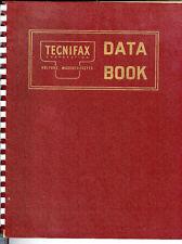 Technifax Data Book 1950's Catalog Blueprint Color Film Cloth Linen Samples