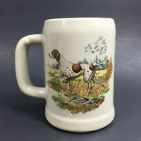Vintage McCoy POINTER Mug Hunting Game Dog Pottery Collectible Made in USA Stein