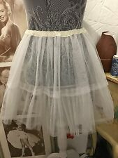 Atelier Pierrot Tulle Skirt One Size White Lolita Victorian