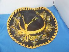 Vintage-Authentic Mexican Sombrero-Lasso Woven On Hat Band Ornate Pigalle