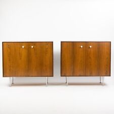 Pair 50s George Nelson Herman Miller Thin Edge Rosewood Dresser Cabinet 2x Avail