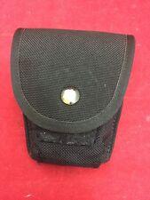 TACTICAL TAILOR Black Ballistic Nylon Handcuff Case w/Clips & Snap Button