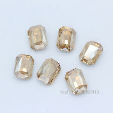 12p 18x27mm color rectangle pointed back foiled rhinestone jewels necklace stone
