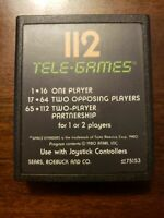 SPACE INVADERS 112 TELE GAMES - ATARI - GAME ONLY - FREE S/H - (B18A)