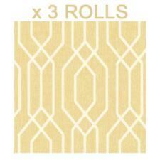 Yellow Geometric Wallpaper Trellis Hexagon Modern Pattern Arthouse x 3 Rolls