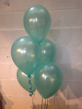 90 Aqua Marine Single Shade Range Pearlised Latex Balloons (Helium Quality)
