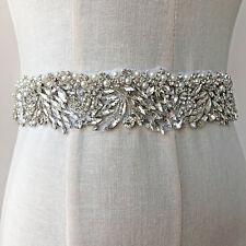Strass Bling Motiv Perlen Braut Gürtel Band Strass Abendkleid Kette