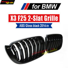Grill for BMW X3 F25 ABS Front Grille Glaoss Black Dual Slat ///M Grills 2014+