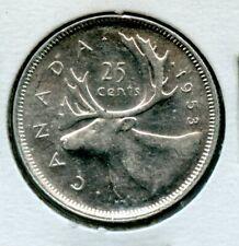 Weeda Canada 1953 SF SD silver quarter