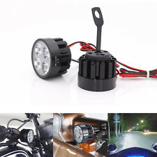 Motorcycle Bike Bright 4 LED Driving Fog Head Spot Light 12W Headlight Lamp