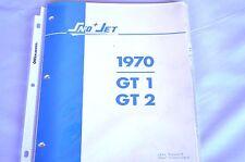1970 Vintage Sno-Jet Snowmobile GT 1, GT 2  Parts Manual (Original)