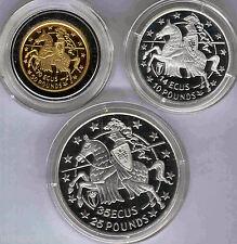 Gibraltar 1992 serie plata y oro Ecu - Pound completa estuches y certificados