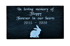 Personalised Engraved Slate Pet Memorial Grave Marker Headstone Plaque Rabbit