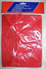 sac de rangement rouge pour pince à linge