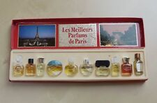 VTG 70s SET 10 MINI *LES MEILLEURS PARFUMS DE PARIS* Shocking Detchema Cabochard