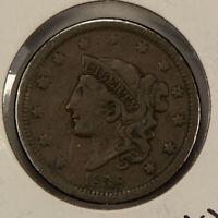 1838 1c Coronet Head Large Cent SKU-Y2593