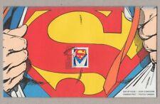 SUPERMAN = Comic book Hero = single COIL stamp FDC, OFDC, Canada 2013