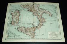 Unteritalien (Italien) / alte Landkarte mit Jahreszahl 1912