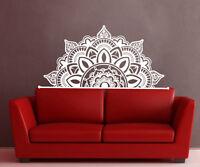 Half Mandala Wall Decals Headboard Vinyl Sticker Bohemian Boho Home Decor MS782