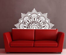 Half Mandala Wall Decals Headboard Vinyl Sticker Bohemian Boho Home Decor MS3782