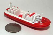 Small Micro Machine Plastic Fire Department Rescue Zodiac