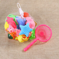 20pcs Rubber Animals Squeeze Squeakers &Squirters Kids Bathtub Toys W/Spoon Net