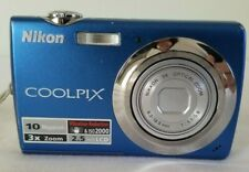 Nikon COOLPIX S220 10.0MP Digital Camera - Blue *GOOD/TESTED*
