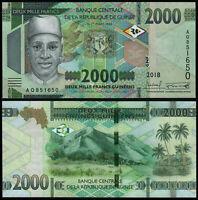 GUINEA 2000  2.000 Francs francos 2018 Pick NEW UNC