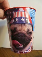 Official Doug the Pug Cup - America! Pug, Yeah! - Plastic 16 oz. Cup - Patriotic