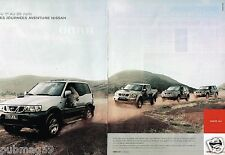 Publicité advertising 2002 (2 pages) Les 4X4 Nissan
