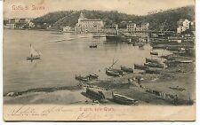 1905 Golfo di Spezia Il porto delle Grazie barche dest. Lucca  FP B/N VG ANIM