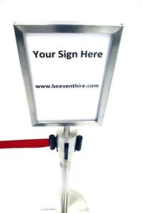 A4 Sign Holders to fit our stretch barriers Portrait Sign Holders, Display Signs
