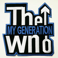 """""""""""GIANT""""""""  - THE WHO MY GENERATION - X-Large Iron-On Jacket Patch!"""