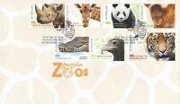 AFD1100) Australia 2012 Australian Zoos FDC Set. Price: $5.70
